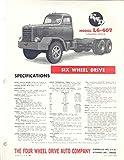 1949 FWD L6-407 Tandem Tractor Logging Truck Brochure