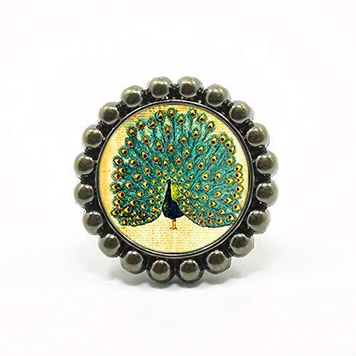 (Mink Monk Flower Shape Pea Knobs Drawer Knobs Bronze/Crystal Dresser Knobs Cabinet Handles Pull Knob Ornate/Furniture Hardware )