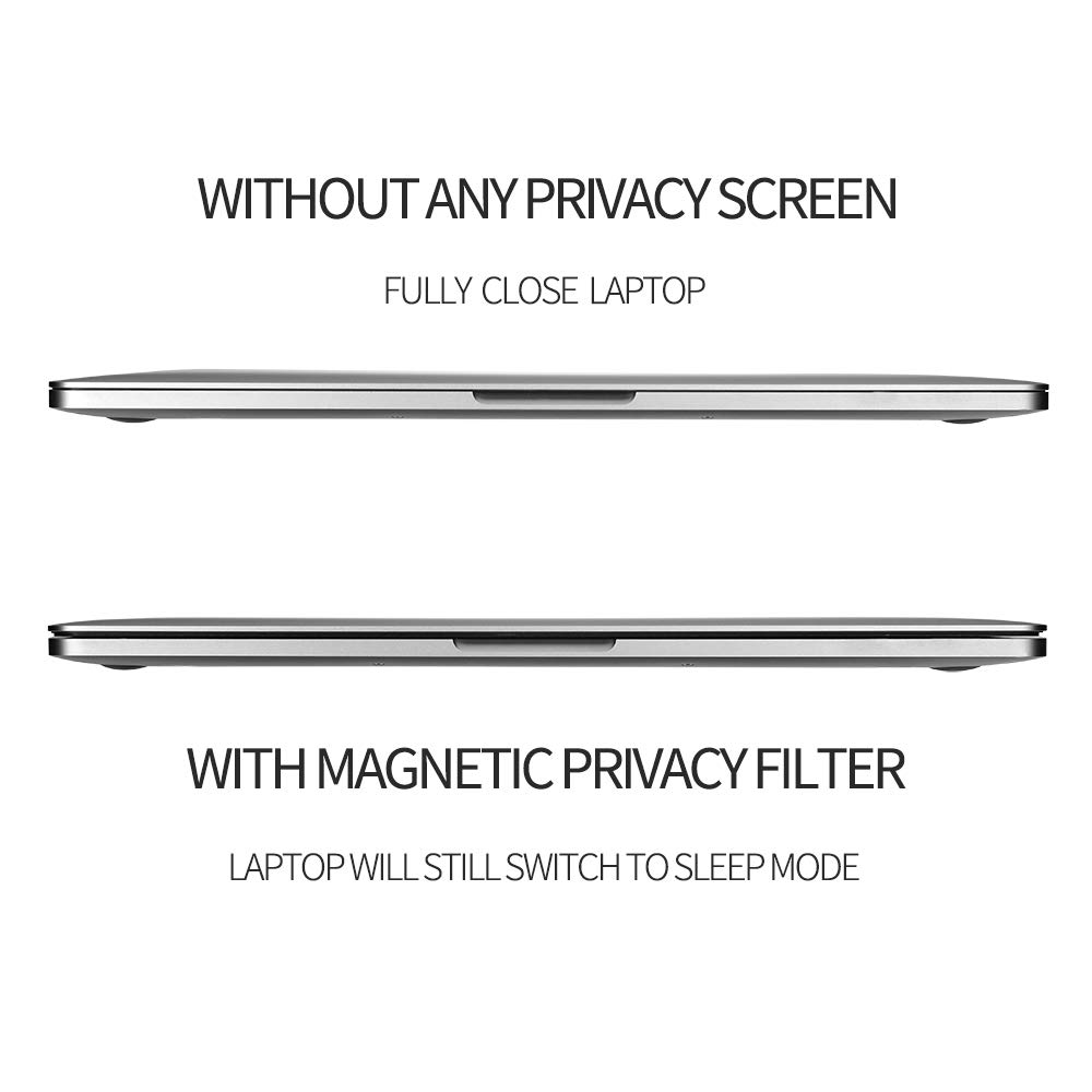 MacBook Pro 13.3 Privacy Screen Protector Filter【Magnetic Installation】【Webcam Cover】【 Anti-Glare Screen Protector 】【TPU Keyboard Cover】 for New 2018 MacBook Air 13 (A1932), MacBook Pro 13 (A1706/08) by FILMEXT (Image #8)