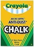 Crayola White Chalk - 12 Stick Pack
