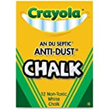 Crayola White Chalk - 12 Stick Pack