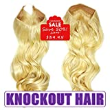 Knockout Hair 20-Inch Fiber Wavy Hair Extensions, 150 Grams,  #613 – Lightest Blonde Review