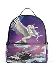 JSTEL Unicorn School Backpack 4th 5th 6th Grade for Boys Teen Girls Kids