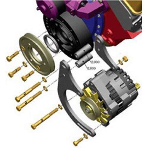 (Powermaster Performance 2898 Polish Alternator (Bracket Low Mount [SBC] for CS121/130 6.14 Mating Alt))