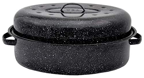Covered Roaster Pan - Granite Ware 19-Inch Covered Oval Roaster