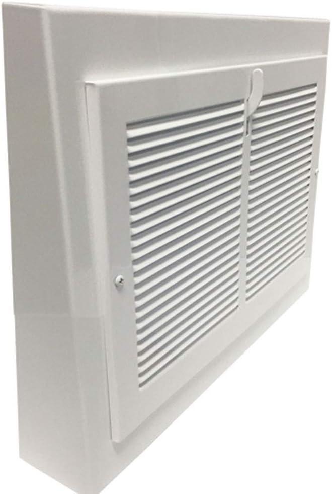 "Vintage White Steel Baseboard Registers - 15"" X 12"" Outside Dimensions"