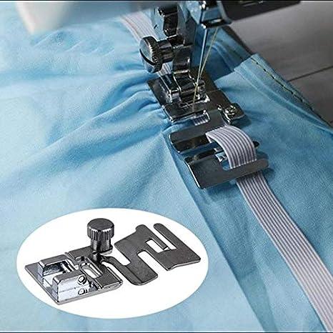 Prensatelas elástico para máquina de coser, 1 pieza de tela elástica para máquina de coser doméstica, prensatelas para máquina de coser Brother, máquina de tela, pie ...