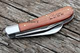 "4"" WOOD PRUNING HAWKBILL FOLDING POCKET KNIFE COLLECTIBLE TRAPPER BARLOW CHICKEN"