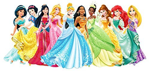 Disney Princess Snow White, Cinderella, Aurora, Ariel, Belle, Jasmine, Pocahontas, Mulan, Tinker Bell Edible Image Photo 1/4 Quarter Sheet Cake Topper Personalized Custom Customized Birthday Party