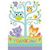 Woodland Creatures Shower Party Postcard Thank You Cards , Paper, 6