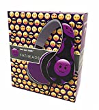 Emoji Fatheads Folding Headphones Purple Devil Character