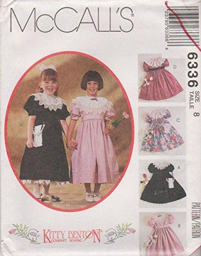 Heirloom Girls Bag - McCall's Sewing Pattern 6336 M6336 Girls Size 8 Kitty Benton Dress Detachable Collar Petticoat Bag