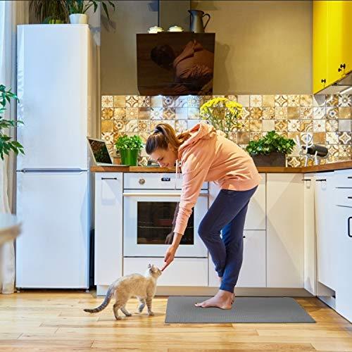 MAPLEZ Anti-Fatigue Comfort Mat Kitchen Rug Non Slip Cushioned Comfort Standing Kitchen Mat for Kitchen, Gaming, Office,Standing Desk 18x30 Inch Grey