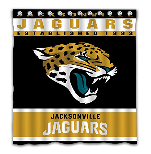 - Potteroy Jacksonville Jaguars Team Design Shower Curtain Waterproof Polyester Fabric 66x72 Inches