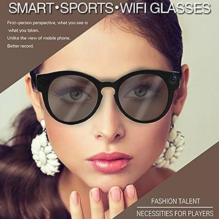 05586959cfda7 Ocamo K11 Camera Sunglasses 1080p Wifi Mini Micro Cameras Polarized-lenses  HD Sports Video Recorder Camcorder  Amazon.co.uk  Kitchen   Home