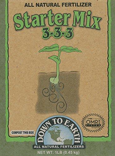 Down to Earth 17836 3-3-3 Starter Fertilizer Mix, 1 lb
