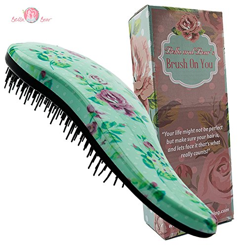 Haarbürsten von Bella & Bear, die beste entwirrende Bürste für nasses oder trockenes Haar, ideal für Erwachsene und Kinder, keine verknoteten Haare mehr.