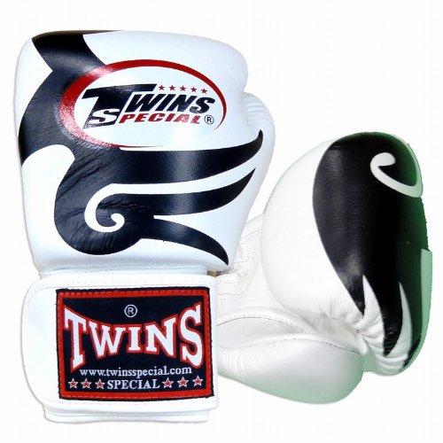 Twins ボクシンググローブ 本革製 トライバル Black/White B00IZM4P06  16oz