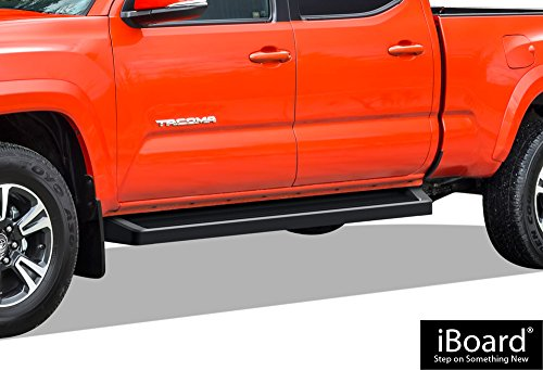 APS iBoard Black Running Boards Style Custom Fit 2005-2019 Toyota Tacoma Double/Crew Cab Pickup 4-Door (Nerf Bars | Side Steps | Side Bars) - Board Running Bolt