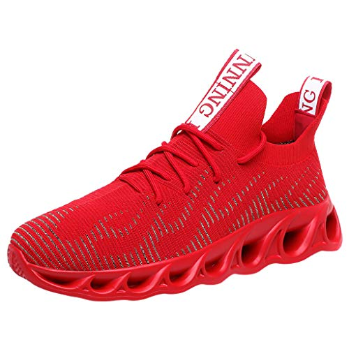 - LYN StarWomen/Mens Air Trainers Fitness Casual Athletic Sneakers Running Shoes Tennis Shoe Walking Baseball Jogging Red