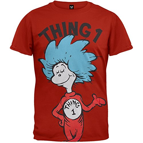 f96f975e Dr. Seuss Thing 1 or Thing 2 Adult Red T-shirt - Buy Online in UAE.    Apparel Products in the UAE - See Prices, Reviews and Free Delivery in  Dubai, ...