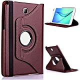 "ProElite (TM) 360 Degree Rotatable Flip Case cover for Samsung Tab A 8.0 8"" T350, T355, T351 (Brown)"