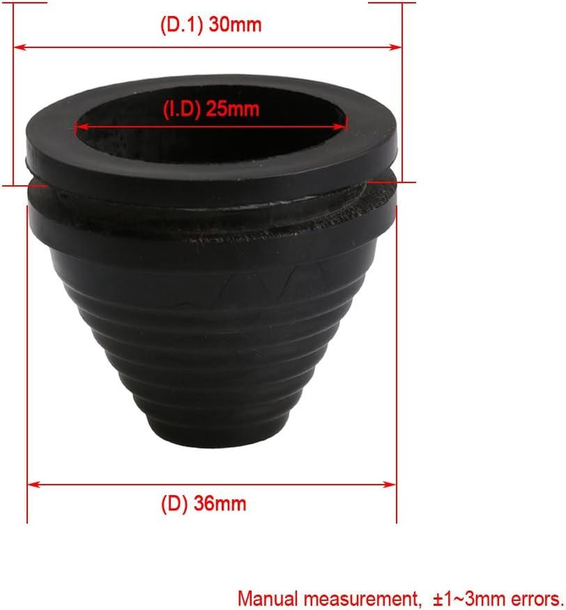 /Öffnung 25mm 25mm //30mm //35mm Schwarz Turm Form Gummi Verdrahtungs Draht Dichtungen Kabelschutz Ring Heimwerker Packung von 20