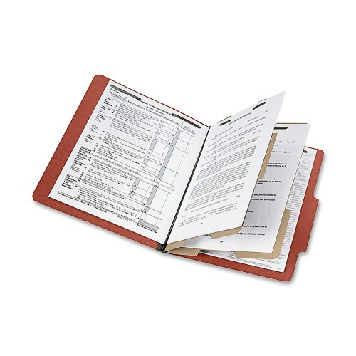 ACCO 16006 ACCO Presstex 20-Point Classification Folders, Legal, 6-Section, Red, 10/Box