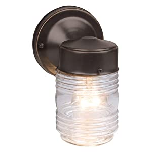 Design House 505198 Jelly Jar 1 Light Wall Light, Oil Rubbed Bronze