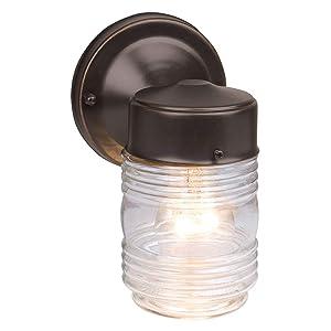 Design House 505198 Jelly Jar 1 Light Wall Light, Oil Rubbed Bronze