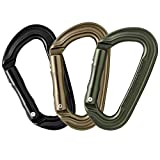 Fusion Climb Contigua II Military Color Edition Grooved Straight Gate Key Nose Carabiner Triple Pack