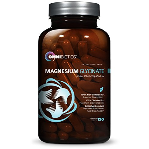 Magnesium Glycinate 200 mg | 100% Pure, Non-Buffered Magnesium Supplement | Albion TRAACS, 120 Vegetarian Capsules