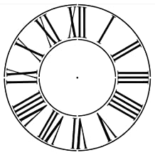 Large Roman Numeral Clockface Wall Stencil by Designer Stencils (22 Inch, 5 mil plastic)