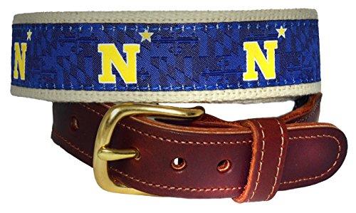 Naval Academy N Star Premium Leather Tab Belt (36)