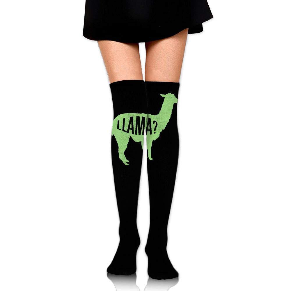 High Elasticity Girl Cotton Knee High Socks Uniform Light Llama Women Tube Socks