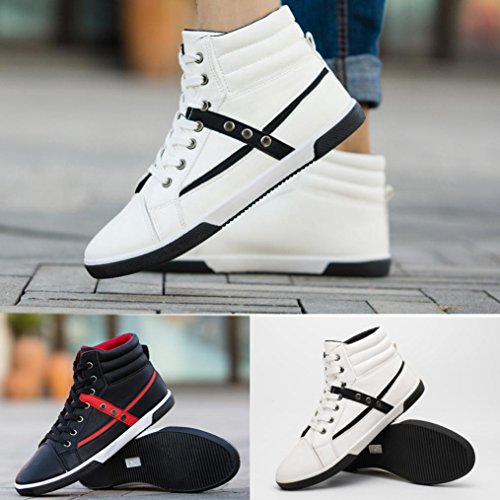 Clearance❤️Men Shoes, Neartime Fashion Men Autumn Leather Footwear Boots High Top Lace-Up Casual Hiking Shoes by Neartime Sandals (Image #6)