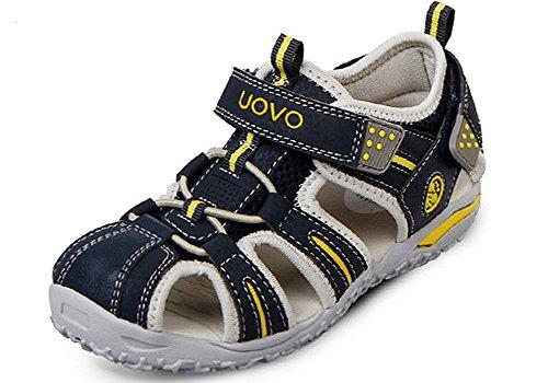 iDuoDuo Kids Outdoor Athletic Bungee Closed Toe Hook-and-Loop Sport Sandals (Toddler/Little Kid/Big Kid)