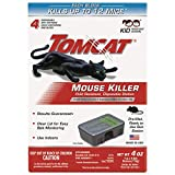 Tomcat Mouse Killer Small Disposable Bait Station, 4-Pack 371610 (Kid Resistant Station)