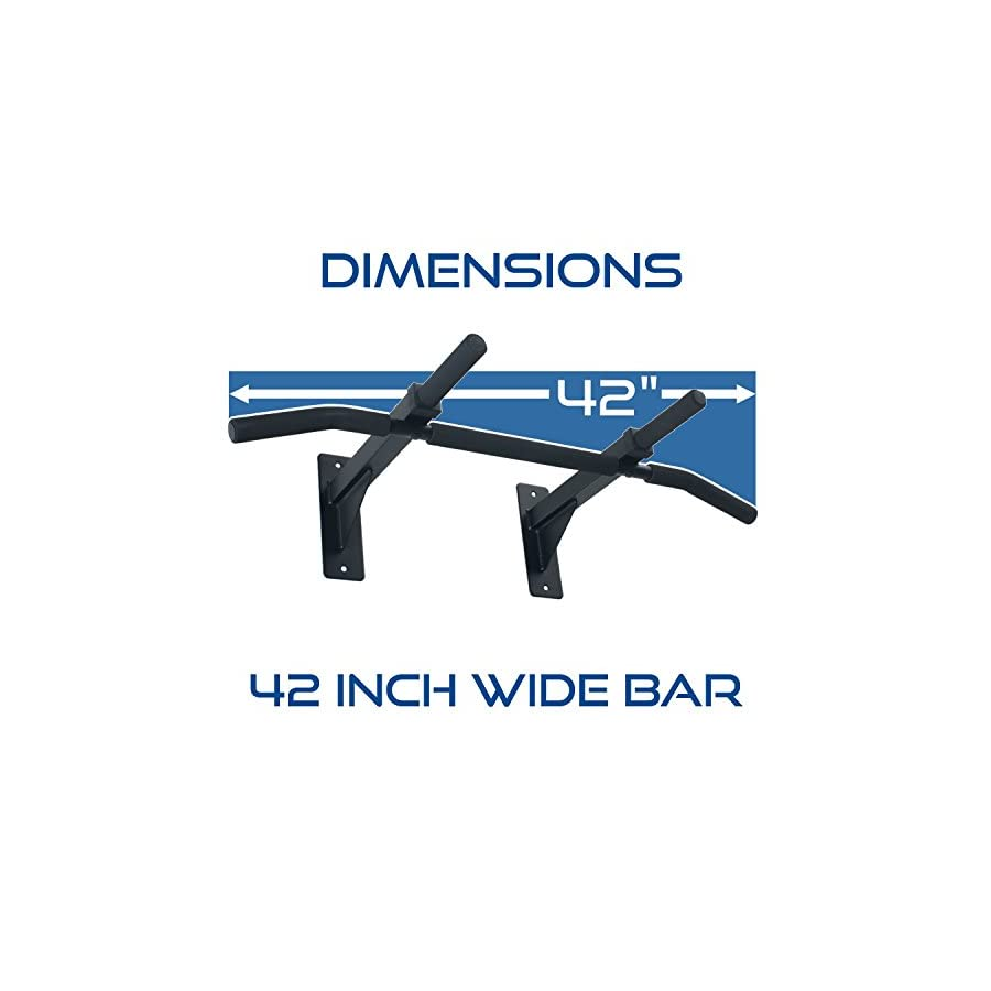 Ultimate Body Press Wall Mount Pull Up Bar with Four Grip Positions
