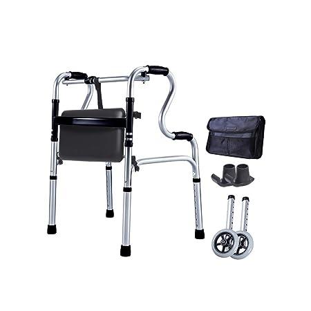 LYXPUZI Taburete de Silla de caña para Ancianos - Andador de ...