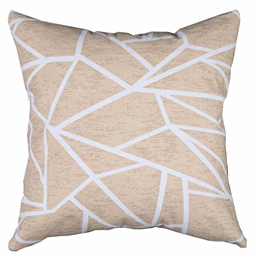 24' Cream Floor Pillow - Multi-sized Both Sides Geometric Lines Printed Cushion Cover LivebyCare Linen Cotton Throw Pillow Case Sham Pattern Zipper Pillowslip Pillowcase For Club Pub Coffee House Bar Sofa Chair Couch