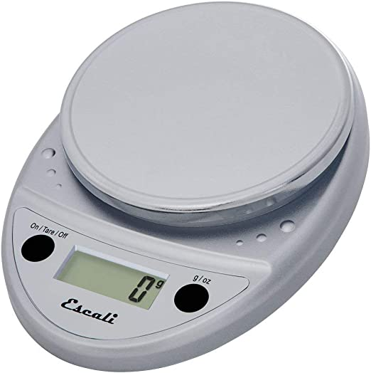 Escali P115C Mesa Ovalado Báscula electrónica de cocina Plata ...
