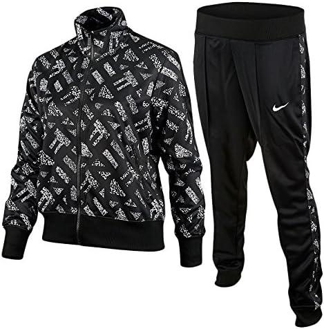 Nike Polyknit Cuffed TS AOP - Chándal para Mujer, Color Negro ...