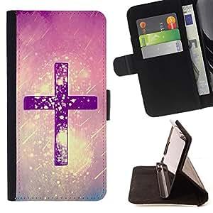 - Purple Cross Religion/ Personalizada del estilo del dise???¡¯???¡Ào de la PU Caso de encargo del cuero del tir???¡¯????n del s - Cao - For LG OPTIMUS L9