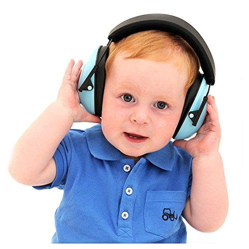 Kids Ear Defenders, NRR 22dB Children Ear Protectors Ear Muffs, Adjustable Hearing Protectors for Concert or Fireworks, Blue