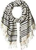 French Connection Women's Deana Lightweight Scarf, Summer White/black, O/S