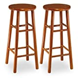 Set of 2, Beveled Seat, 30″ Stool, Assembled Review
