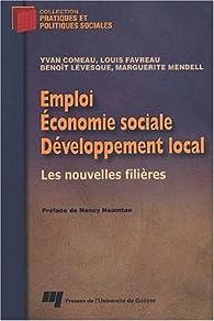 Emploi économie sociale developpement local par Nancy Neamtan