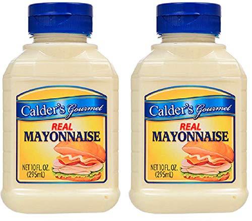 Calder's Gourmet Real Mayonnaise | Pack of 2 (Two 10 Oz. Bottles) | NO Sugar - NO Corn Syrup - NO Egg - Water Corn Syrup