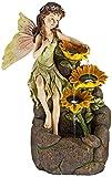 Garden Fairy with Sunflowers 26'' High Floor Fountain